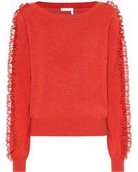 See By Chloé Pullover aus einem Baumwollgemisch - Mehrfarbig