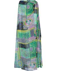 Versace Pareo de seda estampado - Verde
