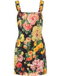 Dolce & Gabbana - Floral-printed Minidress - Lyst