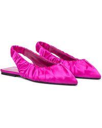 Khaite Slingback-Ballerinas Roma aus Satin - Mehrfarbig