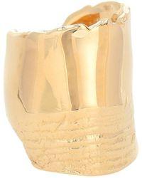 Bottega Veneta Bague en argent plaqué or 18 ct - Jaune