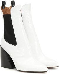Chloé Ankle Boots Wave aus Leder - Weiß
