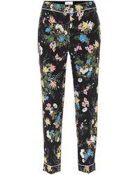 Erdem - Ginnie Floral-printed Silk Pants - Lyst