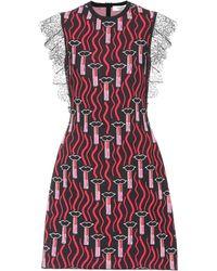 Valentino - Lipstick Waves Knit Dress - Lyst