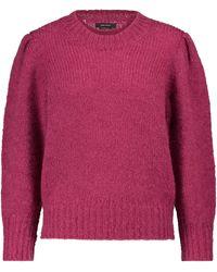 Isabel Marant Emma Mohair And Wool-blend Jumper - Pink
