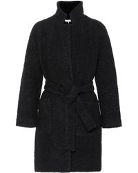 Ganni Fenn Wool-blend Coat - Black