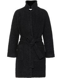 Ganni Manteau en laine mélangée Fenn - Noir