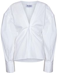 The Attico Chemise en coton - Blanc
