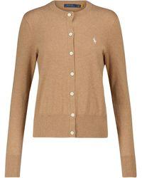 Polo Ralph Lauren Cotton-blend Cardigan - Brown