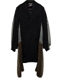 Junya Watanabe Abrigo de lana a capas - Multicolor