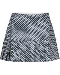 Tory Sport Printed Pleated Miniskirt - Blue