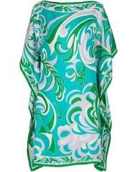 Emilio Pucci Printed Silk Mini Dress - Green