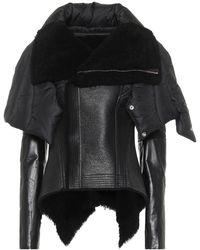 Rick Owens - Giacca Naska in pelle con shearling - Lyst