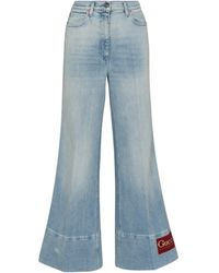 Gucci Mid-rise Flared Jeans - Blue