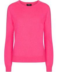 A.P.C. Nola Cashmere Jumper - Pink