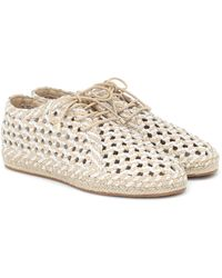 Zimmermann Woven Leather Derby Shoes - White