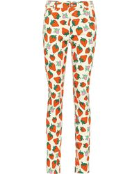 Gucci Printed High-rise Skinny Jeans - Multicolour