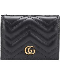 Gucci GG Marmont Leather Wallet - Black