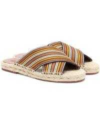 Loro Piana The Suitcase Stripe Espadrille Sandals - Natural