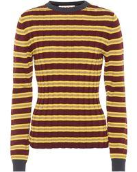 Marni - Striped Cotton-blend Jumper - Lyst