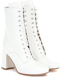 Maryam Nassir Zadeh Emmanuelle Leather Ankle Boots - White