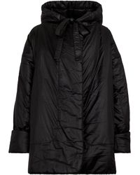 Norma Kamali Sleeping Bag Reversible Hooded Coat - Black
