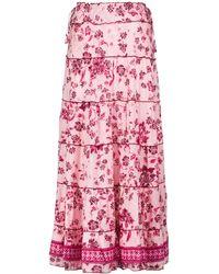 Poupette Camila Floral Maxi Skirt - Pink