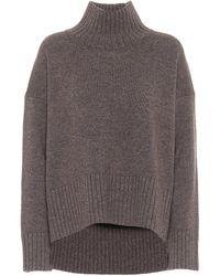 Co. Jersey mezcla de lana cuello alto - Marrón