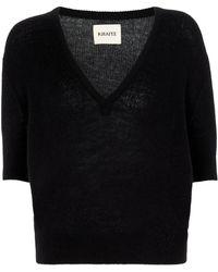 Khaite Sierra Stretch-cashmere Sweater - Black