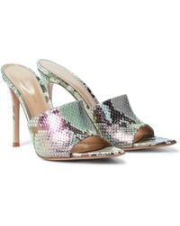 Gianvito Rossi Alise 105 Snake-effect Leather Sandals - Multicolour