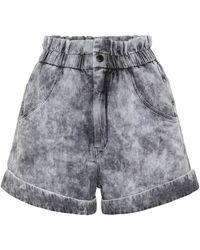 Étoile Isabel Marant Shorts Cinyab de jeans de tiro alto - Negro