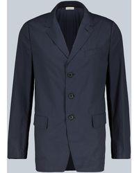 Dries Van Noten Blazer de algodón - Azul