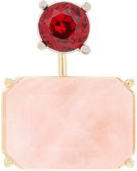 Acne Studios Crystal-embellished Earring - Pink