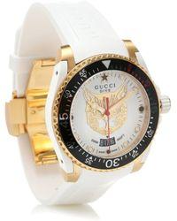 Gucci Uhr Dive 40 mm - Weiß