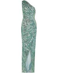 Rasario Vestido de fiesta de lentejuelas - Verde