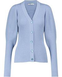 Safiyaa Cardigan Indre en laine mérinos mélangée - Bleu