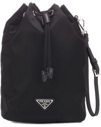 Prada Bucket-Bag Nylon - Schwarz