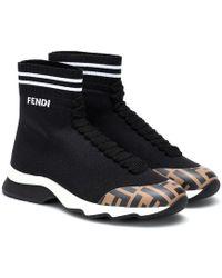 Fendi Sneakers in maglia - Nero