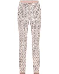 Gucci Embellished GG Tulle leggings - Pink