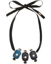 Marni Verzierte Halskette - Blau