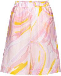 Emilio Pucci Shorts de algodón y seda estampados - Rosa