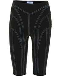Mugler Shorts stretch - Nero