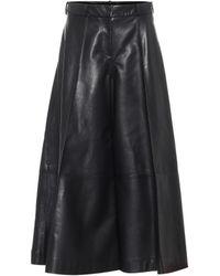 Khaite Selma High-rise Leather Trousers - Black