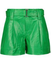 Ganni Shorts aus Leder - Grün