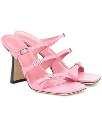 BY FAR Exklusiv bei Mytheresa – Sandalen Malene aus Leder - Pink