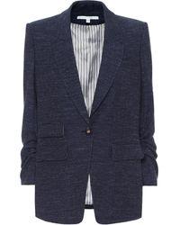 Veronica Beard Martel Dickey Wool-blend Blazer - Blue
