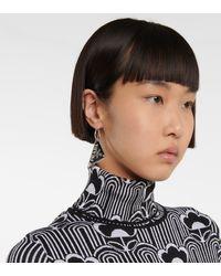 Prada Boucle d'oreille unique Symbole en argent sterling - Noir