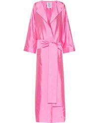 Rosie Assoulin Silk Taffeta Coat - Pink