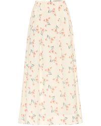 Roland Mouret Exclusive To Mytheresa – Badby Floral Seersucker Midi Skirt - White
