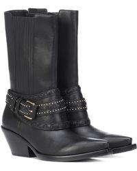 Zimmermann Leather Cowboy Boots - Black
